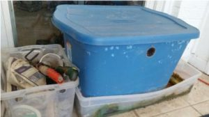 Supplies needed to build your own worm composter