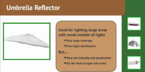 HID Umbrella Reflector