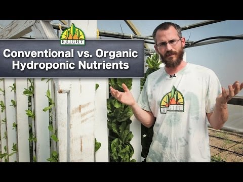 conventional vs organic hydroponics video